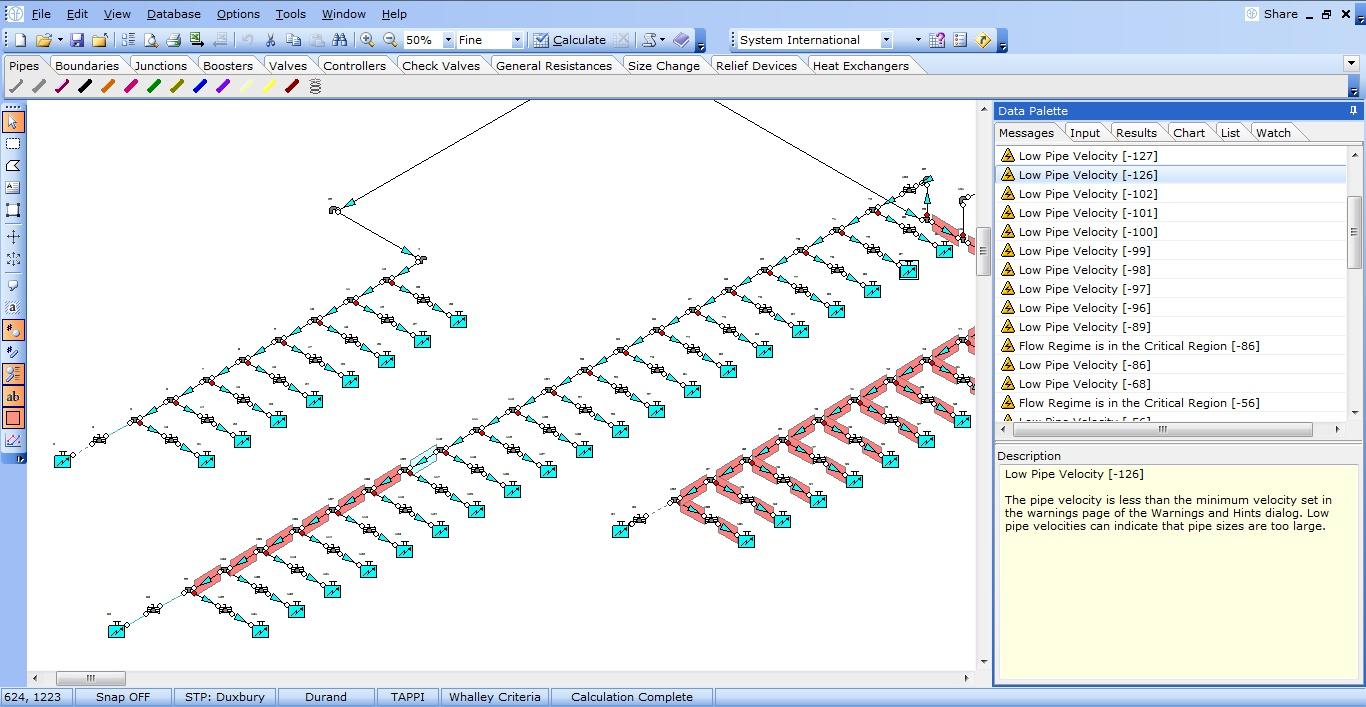 FluidFlow pressure drop software Build your flow networks quickly