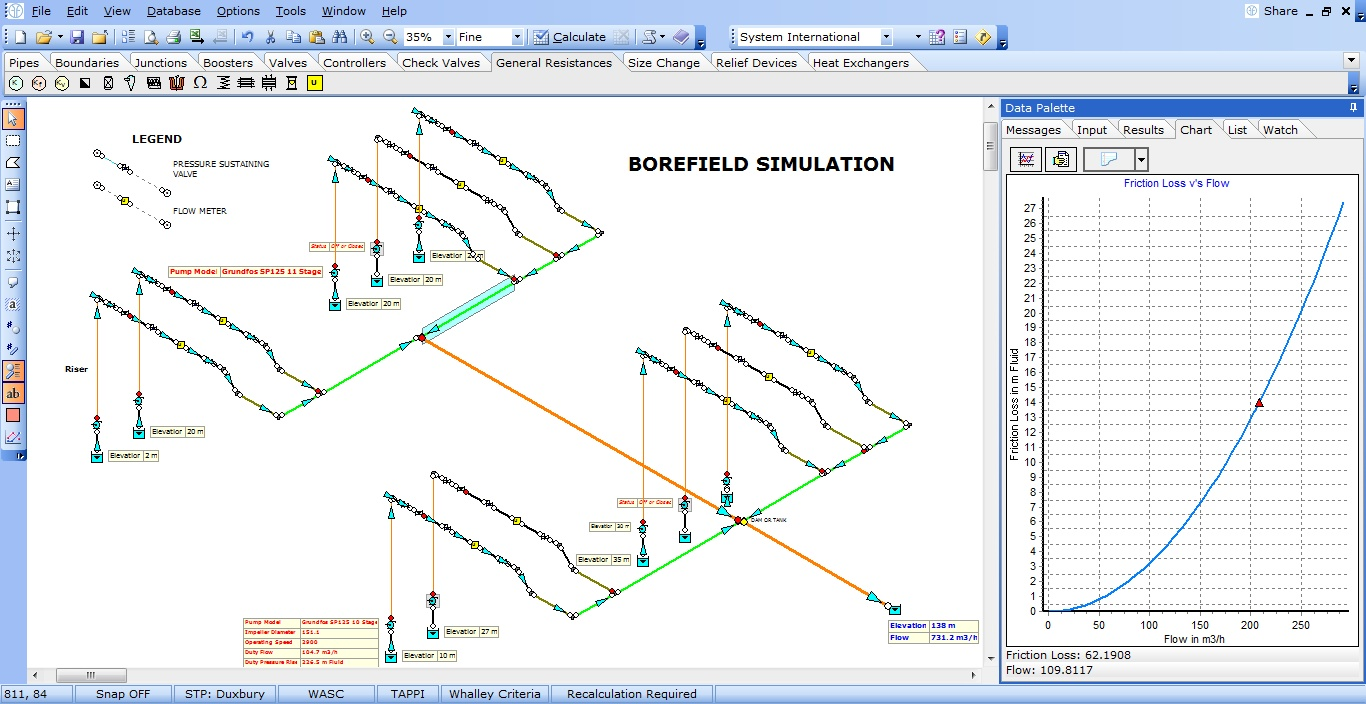 Incompressible - Borefield Simulation - Our customers use FluidFlow to design