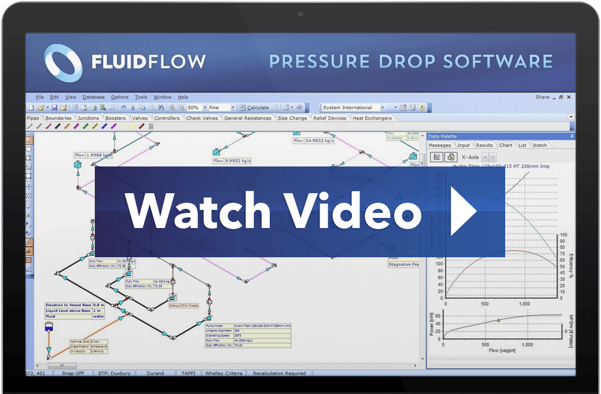 Fluidflow Pipe Flow Pressure Drop Software