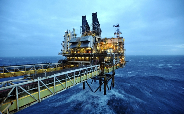 A picture shows section of the BP ETAP (...A picture shows section of the BP ETAP (Eastern Trough Area Project) oil platform in the North Sea, around 100 miles east of Aberdeen, Scotland on February 24, 2014. The British cabinet will meet in Scotland for only the third time in history to announce plans for the country's oil industry, which it warns will decline if Scots vote for independence. The fate of North Sea oil revenues will be a key issue ahead of the September 18 referendum to decide whether Scotland will end its 300-year-old union with England, and is expected to be the focus of Prime Minister David Cameron's cabinet meeting.  AFP PHOTO / POOL / ANDY BUCHANANAndy Buchanan/AFP/Getty Images